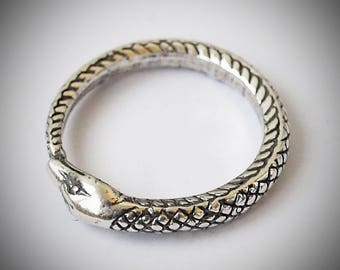 Ouroboros ring, Snake eat tail, Snake eat tail ring, Snake ring, Snake jewelry, Snake rings, Ring with snake, Silver plated jewelry