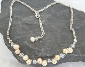 Twisted Strand Freshwater Pearl Set