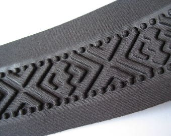 Black pattern thermoformed stripe geometric embossed matte