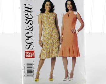 Princess Seam Dress Sewing Pattern, Uncut Sewing Pattern, See&Sew B6153, Size 8-16