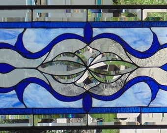 """Stained Glass Window Hanging 40 X 14"""""""