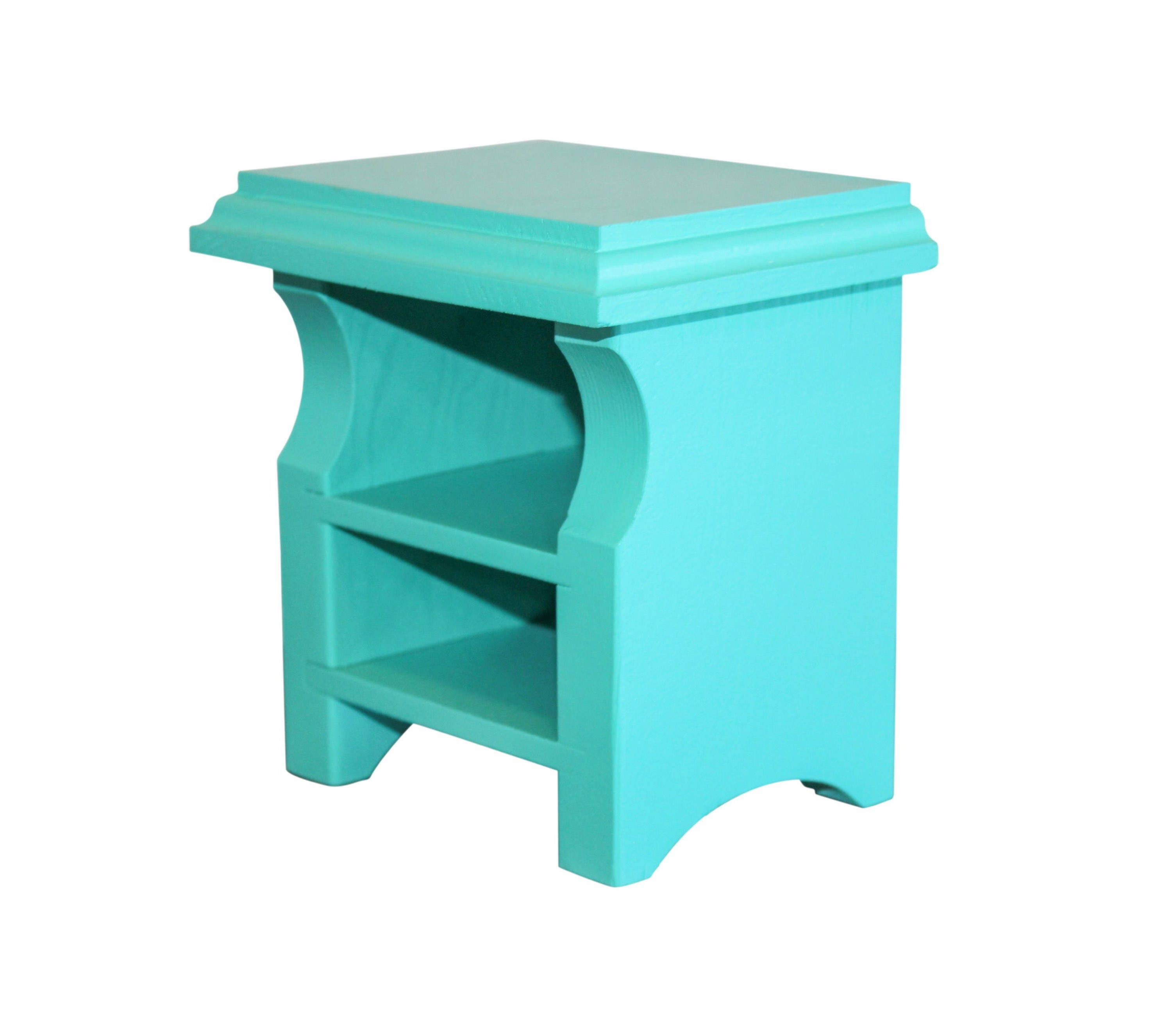 Teal Nightstand AG Doll Furniture 18 inch Doll Furniture AG