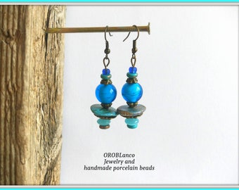 Earrings Blue Turquoise
