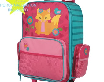 FOX Stephen Joseph Classic Rolling Luggage, Kids Luggage, Bookbag.
