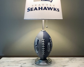 Seattle Seahawks football lamp. Nfl sports team.