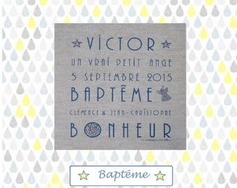 """Baptism"" linen canvas - custom"