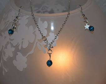 Blue stone and delicate star set