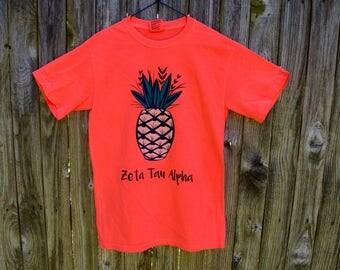 Zeta Tau Alpha Pineapple Shirt