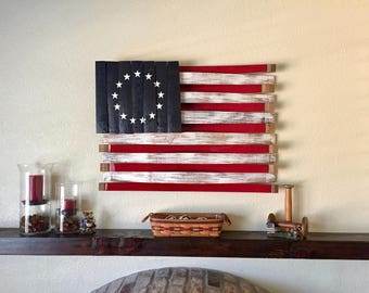 Wooden American Flag Wall Hanging texas wine barrel art wall hang texas wood flag texas flag