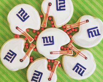 Football helmet sugar cookies