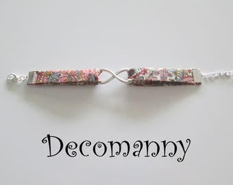 Bracelet breloque infini liberty rose