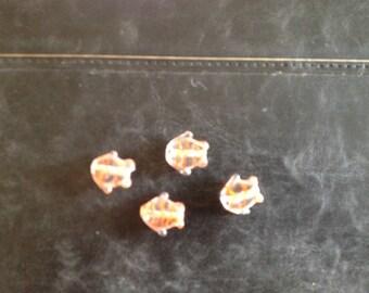 "orange fish in the ""stripes"" Murano glass beads"