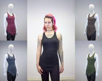 Pointed Hem Layering Tank    Multiple Color Options   