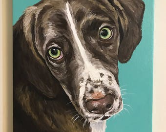 Pet Painting Custom dog painting pet portrait