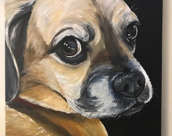 Custom dog Painting, Custom dog portrait, Pet Paintings, Custom Pet Portraits, custom cat painting, custom pet portraits