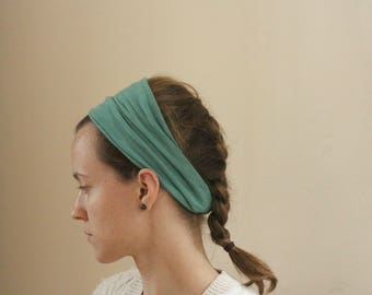 Stretchy Teal Head Covering/Headband