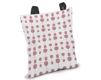 Pink Tote Bag, Retro Pink Tote Bag, Shoulder Market Bag, Retro Modern Bag, Summer Totes, Beach Tote, Seaside Bag, Yoga Bag, Workout Bag Pink