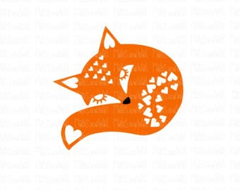 Fox valentine heart svg/png/dxf cricut/silhouette cutting file/valentine fox/love svg/valentine svg/heart fox/fox svg/fox love/heart SVG/HTV