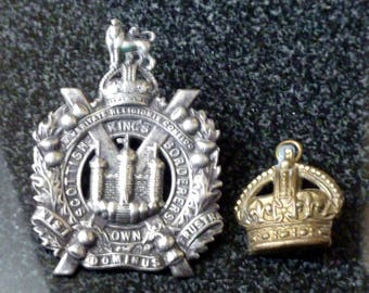 British Military Cap Badge (Kings's Own Scottish Borderers)