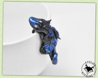 Dragothe - Black Dragon tea bag clip