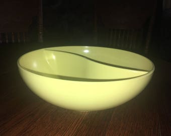 Vintage Yellow Sun-Valley Melmac Divided Serving Bowl