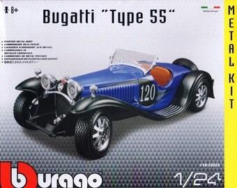 Bugatti Type 55 Die-Cast Metal MODEL CAR KIT, Scale 1:24, Brand New, Bburago