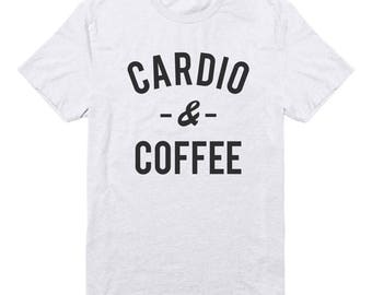 Cardio & Coffee Shirt For Ladies Tshirt Fashion Women Tees Graphic Men Tshirt Cool Funny Slogan Shirt Women Tshirt Men Gifts Ladies Tshirt
