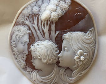 Shell Cameo Large Made in ITALY 80 mm