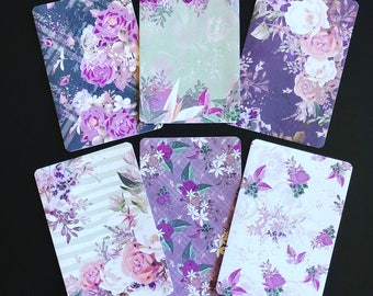 Florals Flannels & Frost TN Collection - Travelers Notebook Laminated Dashboards - Choose B6 or POCKET size