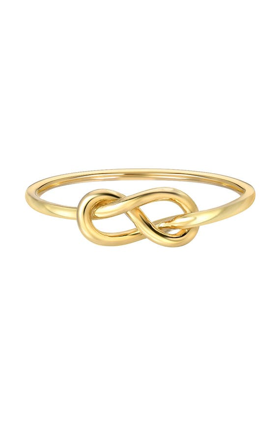 14k gold knot ring solid gold dainty knot