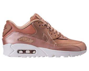 Swarovski Girls / Womens Nike Air Max 90 SE Leather Shoes Blinged with SWAROVSKI® Crystals