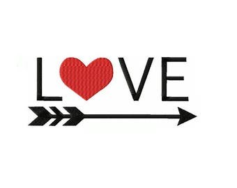 Love and Arrow Machine Embroidery Digital Download