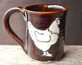 Chicken Mug in Russet