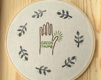 Green Thumb Hoop Art