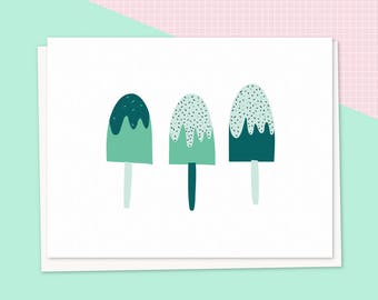 Card. popsicles