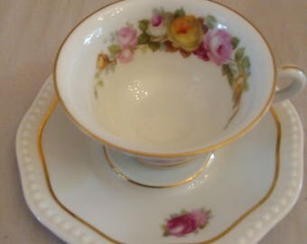 beautiful Mocha Cup 1960 Rosenthal flower decor