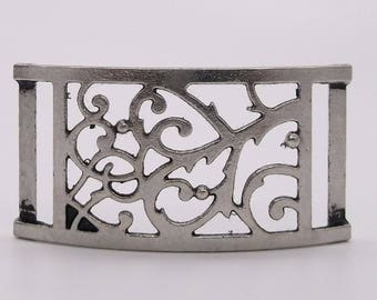 "Bracelet Slide 3/4"" Wide Sterling Plated J7084-00 by Silver Creek Alloy"