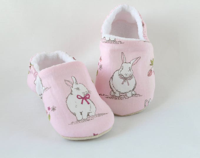 Pink Bunny Baby Girl Shoes
