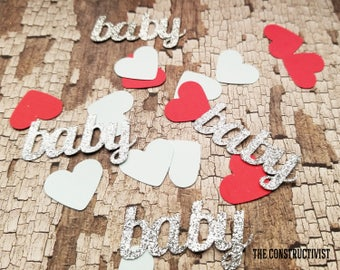 25 2-Inch》BABY《 Confetti/Table Scatter/Baby Shower/Gender Reveals/Birthday/Photoshoot/Party Supplies/Decor
