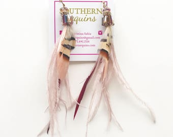 """Feather """"Cam"""" Earrings"""