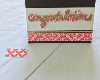 "Handcrafted ""Congratulations"" card"