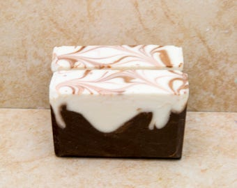 Handmade Soap Chocolate Cream Soap Strong Scented Soap Vegan Soap Gift Soap