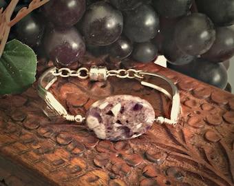 Purple Amethyst Gemstone Jewelry Bracelet for Women , SIlverware Bracelet , Summer Jewelry Womens Jewelry Best Selling Item Jewelry, Gifts