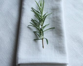 Pure 100% Linen soft feel  napkins white set of 6/weddings/dining