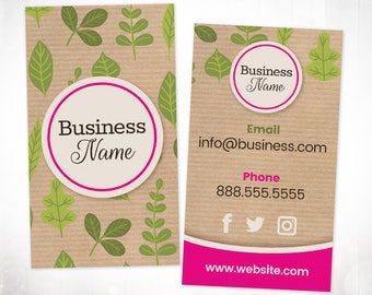 Premade Business Card Design • Organic Nature