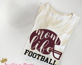 Mom Life Football Tank Top-Football Shirt-Football Mom-Cute Football Shirt-Football Clothing-Mom Clothes-Game Day Shirt