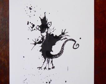 Squirtmeleon Art Print