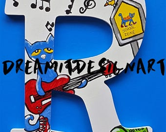 Pete the Cat Stay Groovy Alphabet Letter R