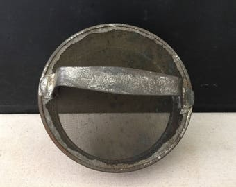 Metal Milk Jug Lid Can - Vintage Milk Can Lid with Screen - 1920s - Primitive - Antique Lid - Farmhouse - Repurpose Lid - Replacement Lid