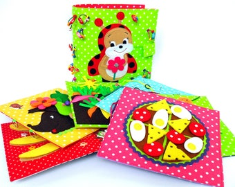 christmas present childrens quiet book busy book fabric activity book busy bag